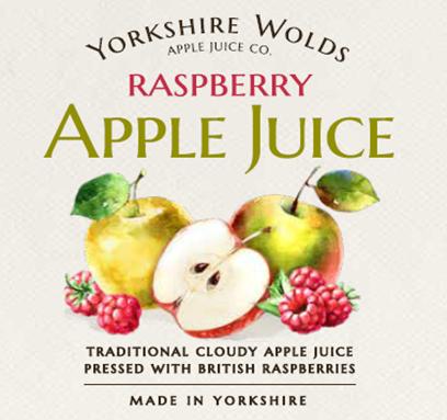 Apple & Raspberry Label Image