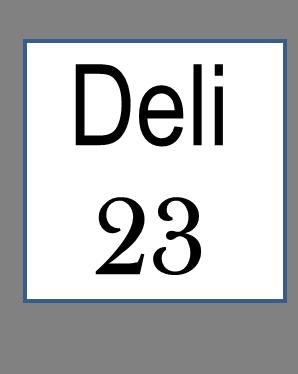 Deli 23 castleton Logo