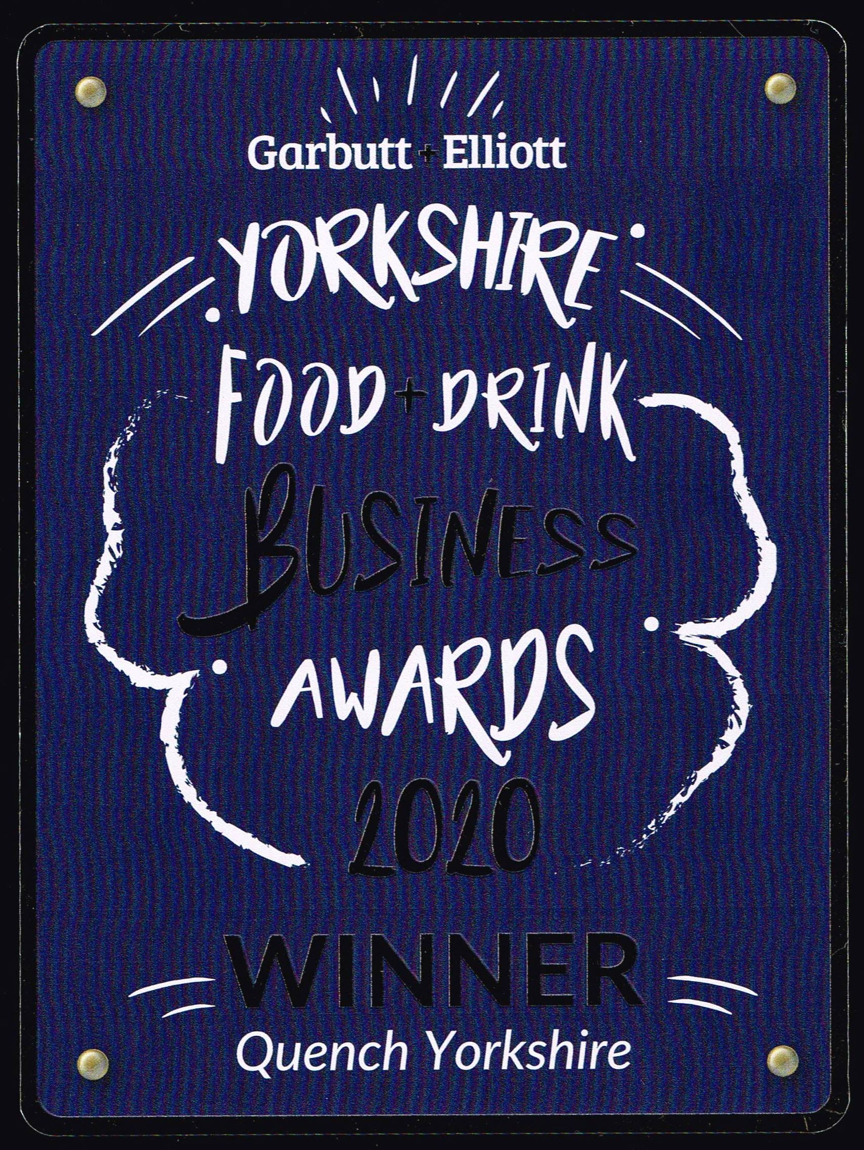 Garbutt&Elliott Food & Drink Awards 2020 Winner Quench